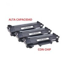 Compatible Pack de 3 Brother TN2420 / TN-2420 Negro (CON CHIP)